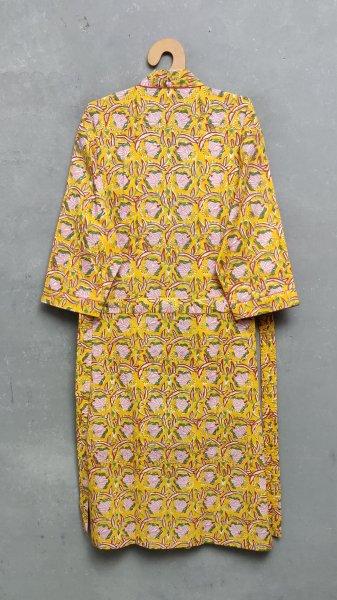 Handblock Housecoat/ Cotton Robe HCCR18