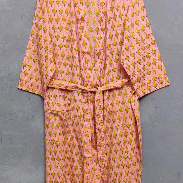 Handblock Housecoat/ Cotton Robe HCCR22