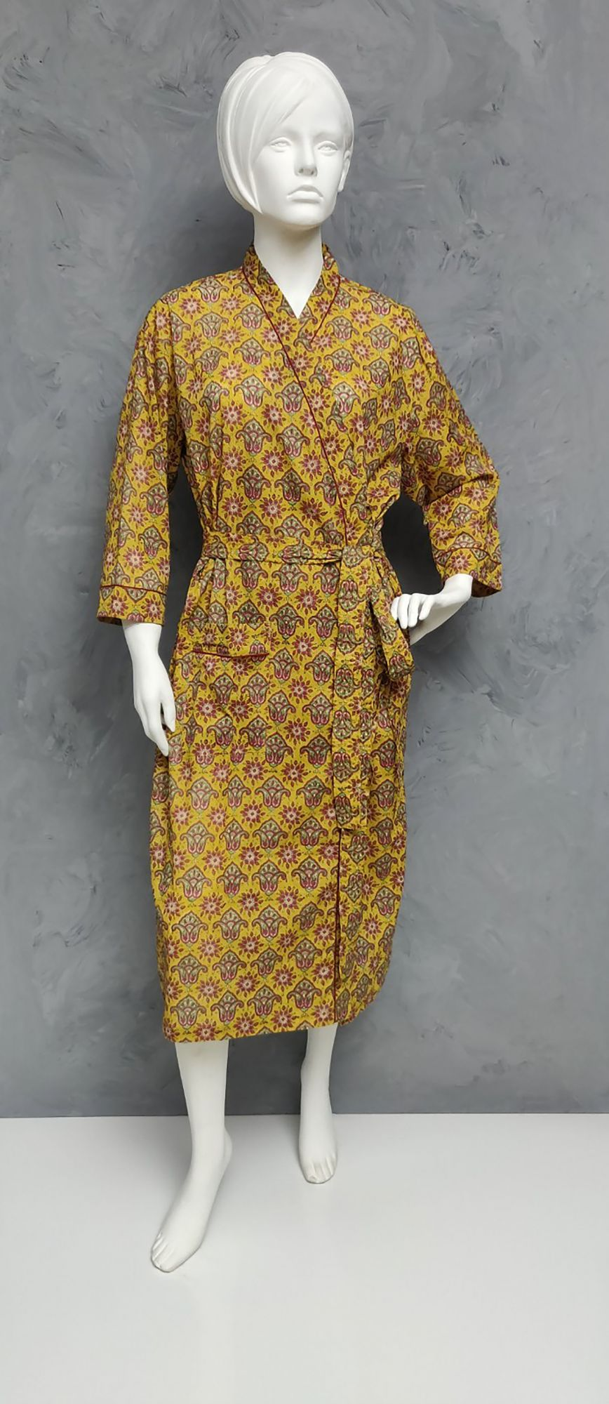 Handblock Housecoat/ Cotton Robe HCCR25