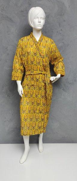 Handblock Housecoat/ Cotton Robe HCCR26
