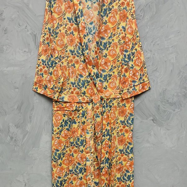 Handblock Housecoat/ Cotton Robe HCCR28