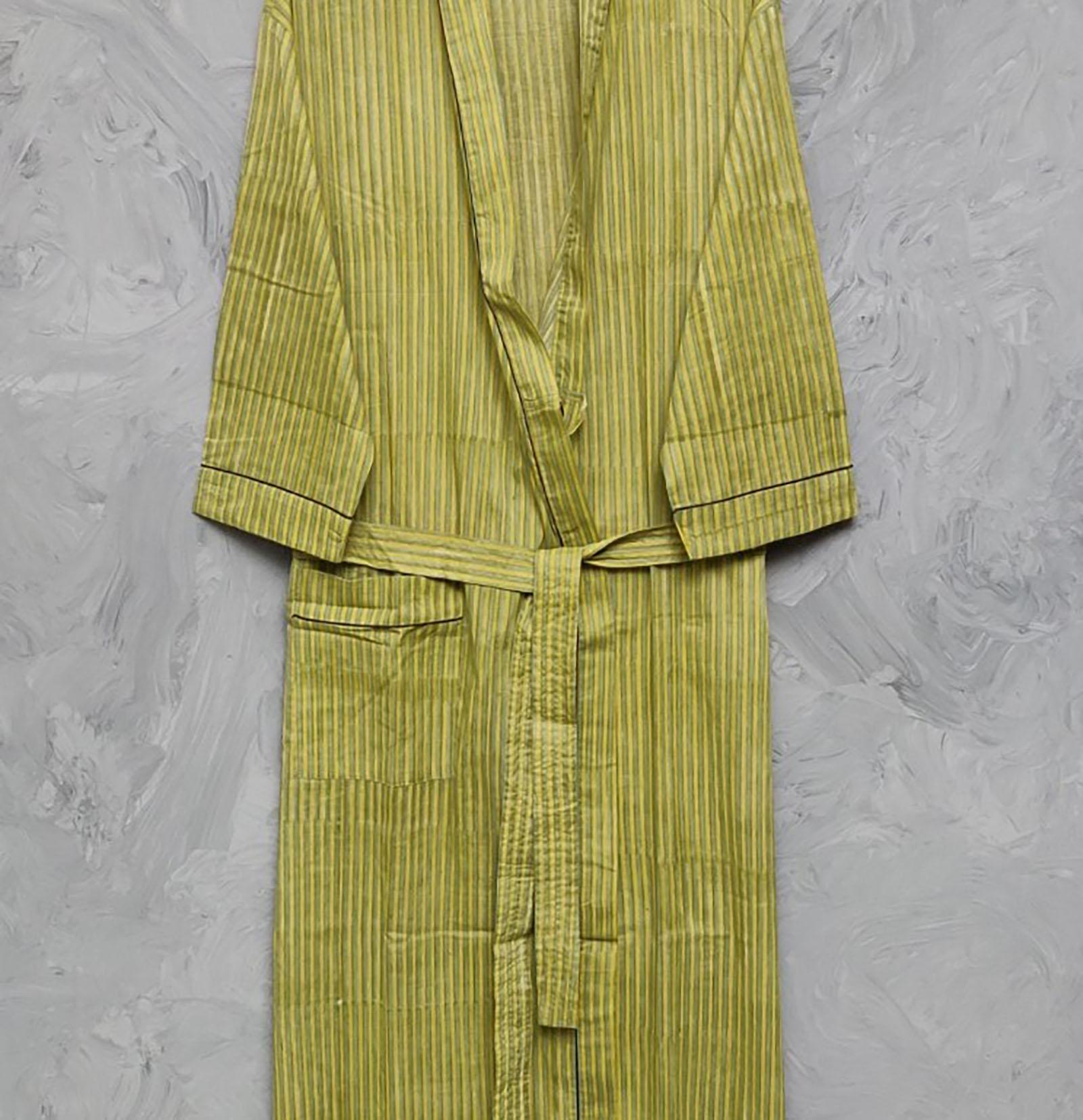 Handblock Housecoat/ Cotton Robe HCCR31