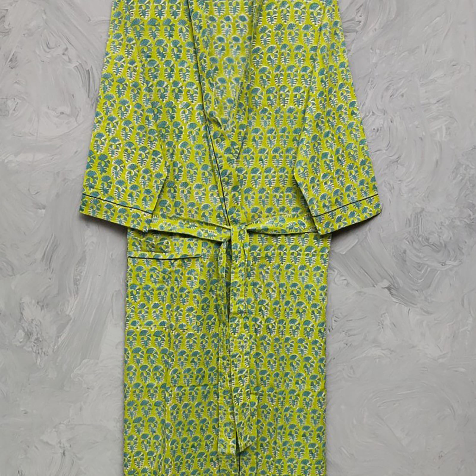 Handblock Housecoat/ Cotton Robe HCCR32
