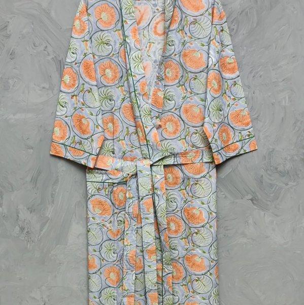 Handblock Housecoat/ Cotton Robe HCCR48
