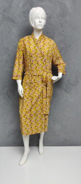 Handblock Housecoat/ Cotton Robe HCCR68