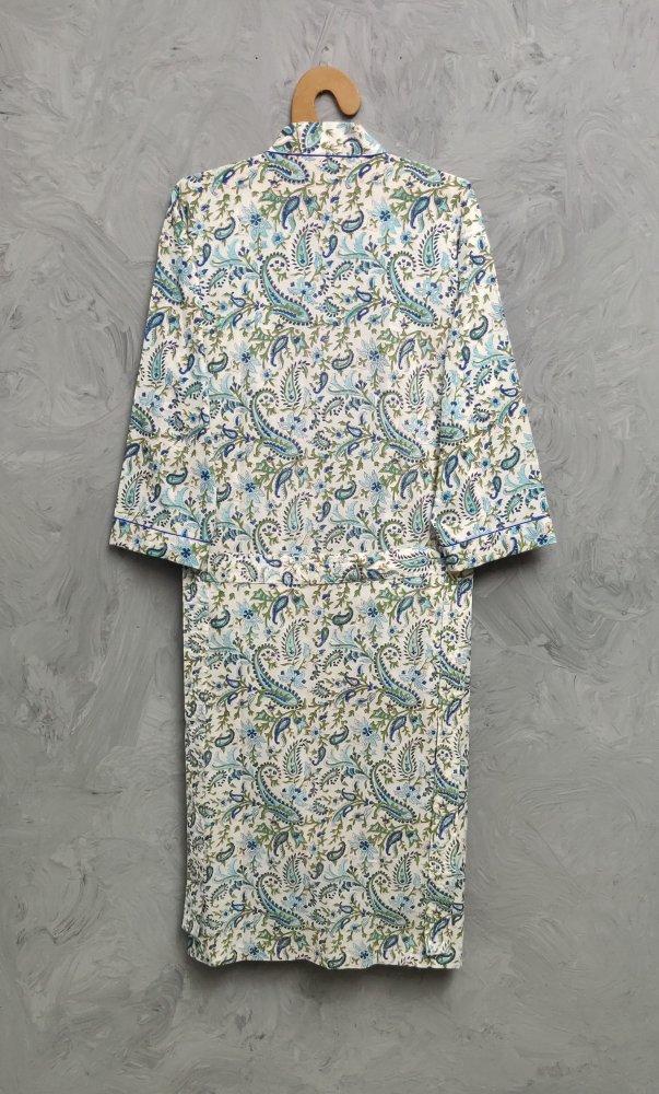 Handblock Housecoat/ Cotton Robe HCCR85
