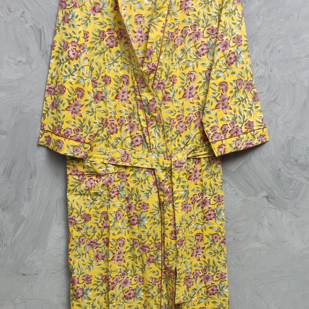 Handblock Housecoat/ Cotton Robe HCCR88