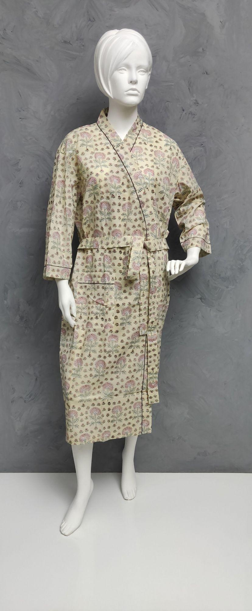 Handblock Housecoat/ Cotton Robe HCCR93