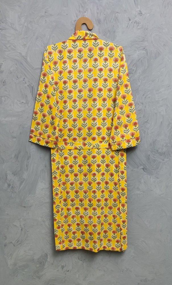 Handblock Housecoat/ Cotton Robe HCCR94