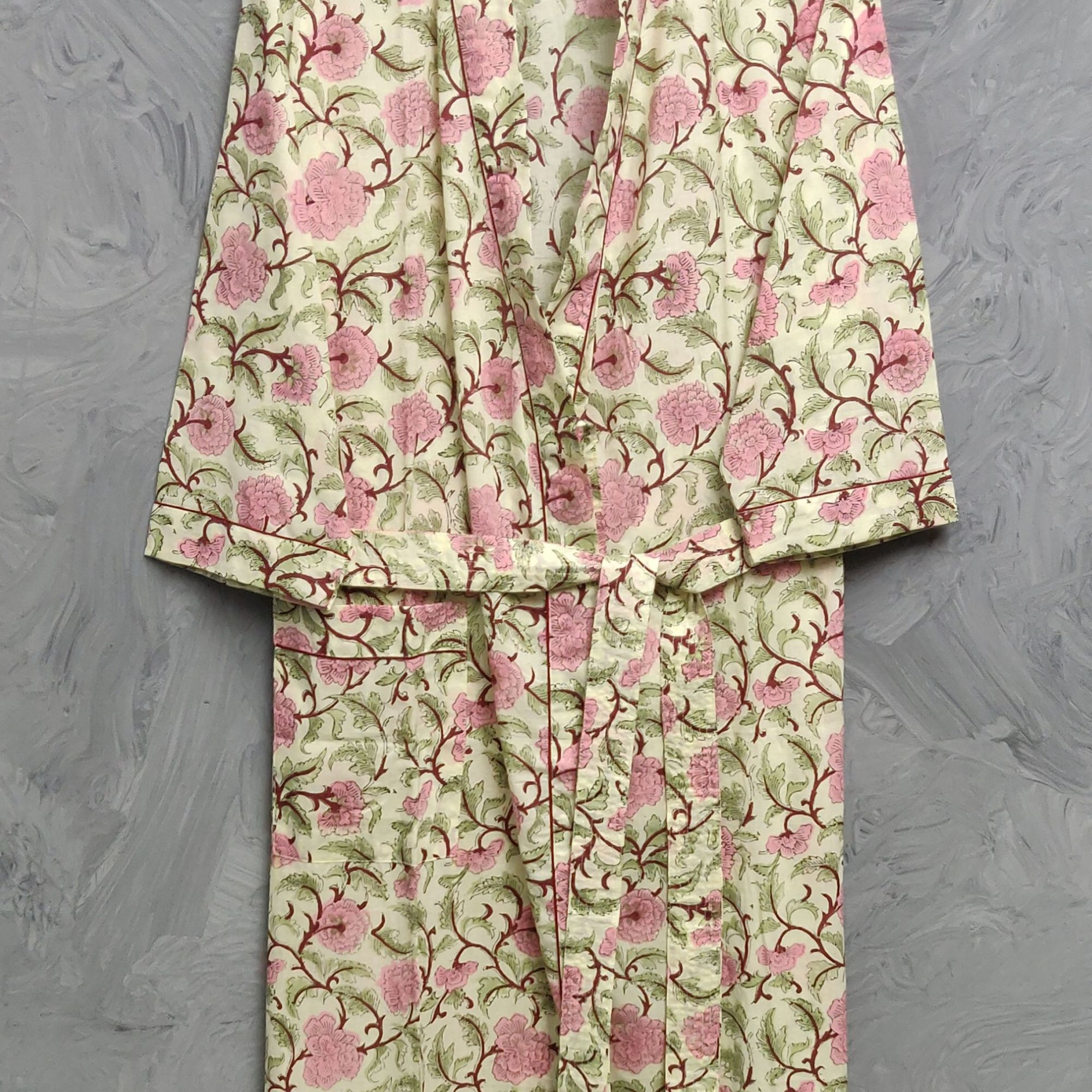 Handblock Housecoat/ Cotton Robe HCCR95