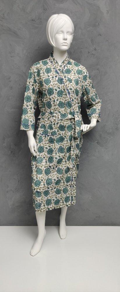 Handblock Housecoat/ Cotton Robe HCCR96