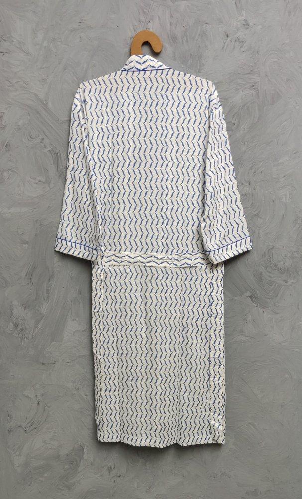 Handblock Housecoat/ Cotton Robe HCCR97