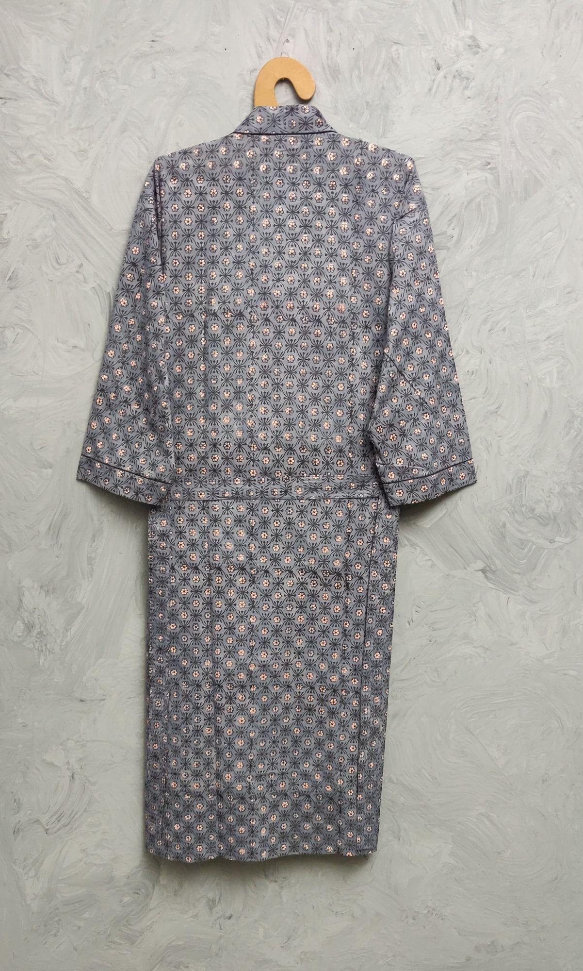Handblock Housecoat/ Cotton Robe HCCR99