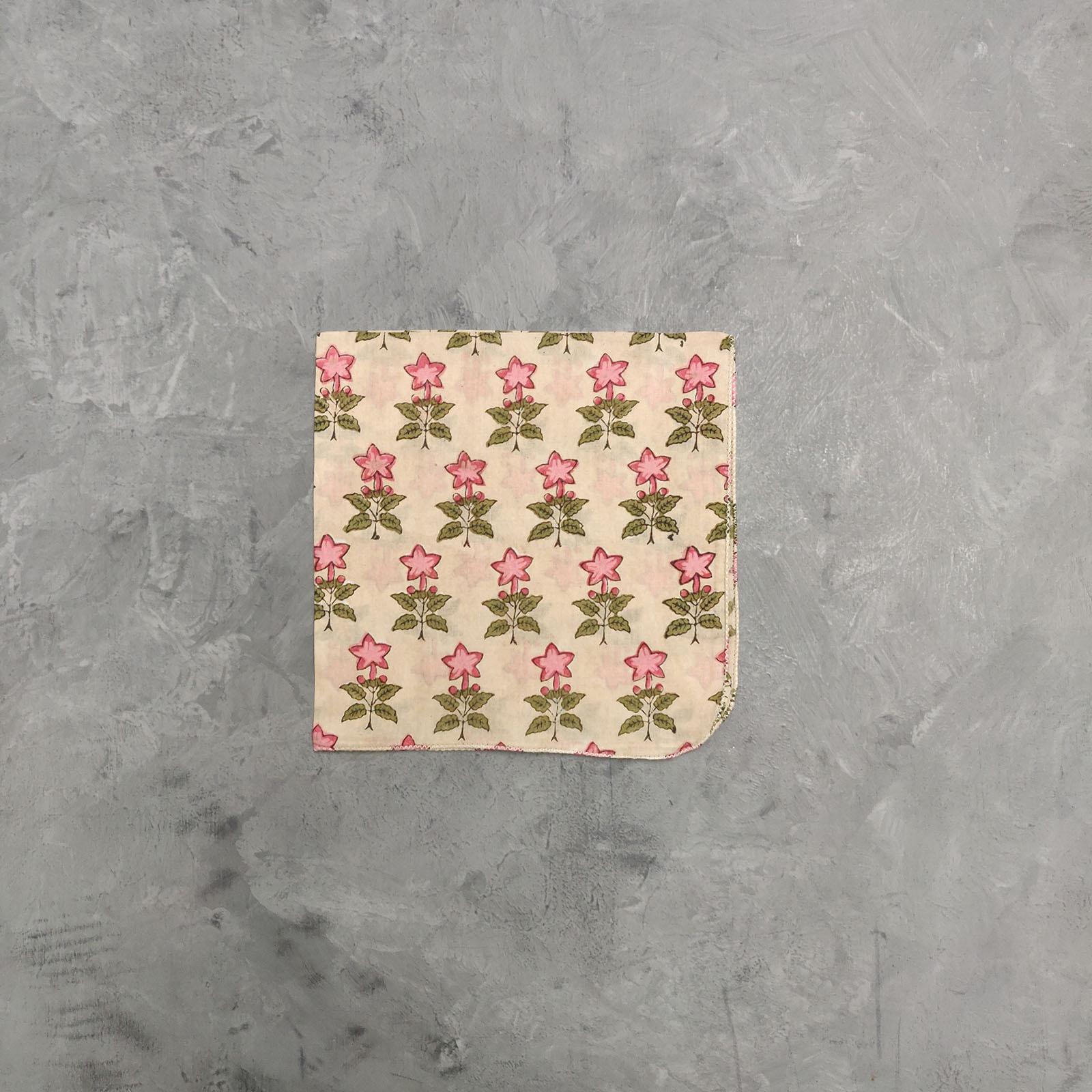 Handblock printed Handkerchief / Napkins WHH82