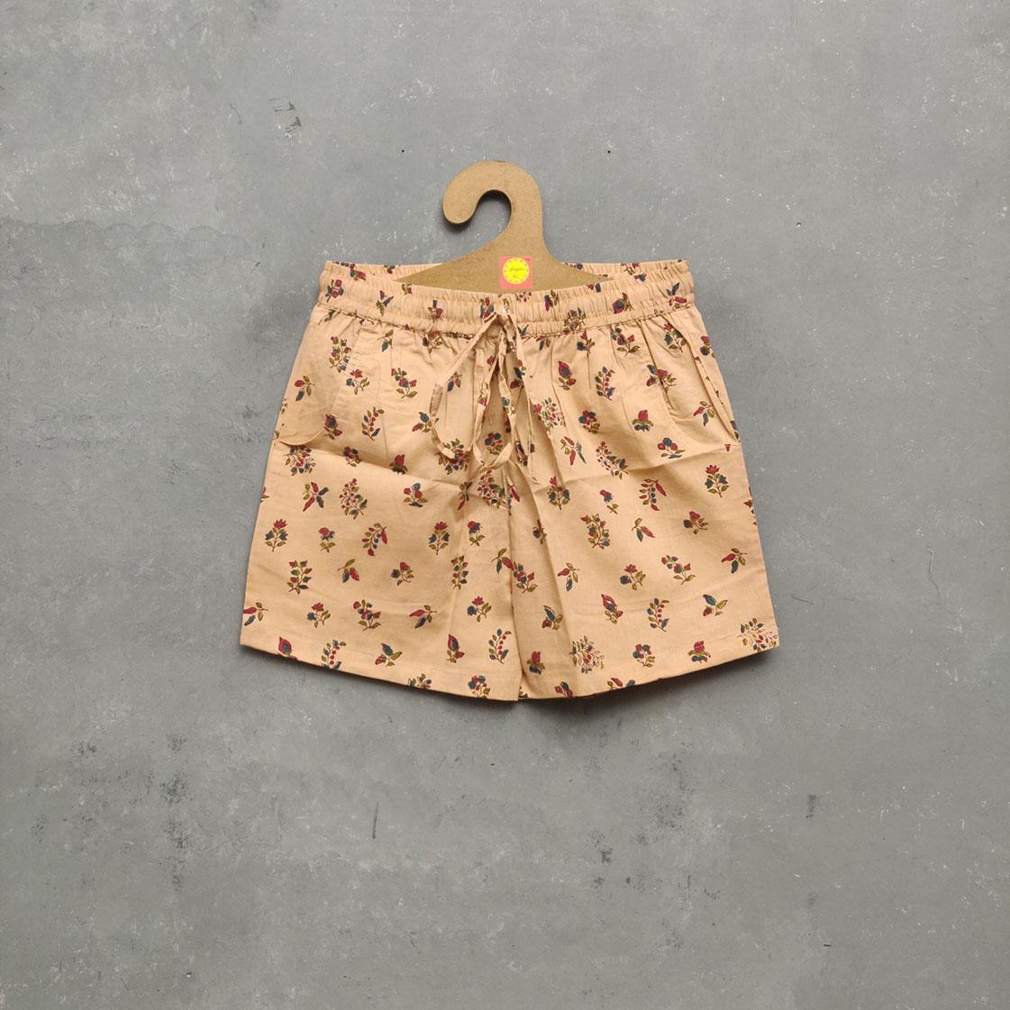 Handblock Printed Shorts/ Half Pants HP107