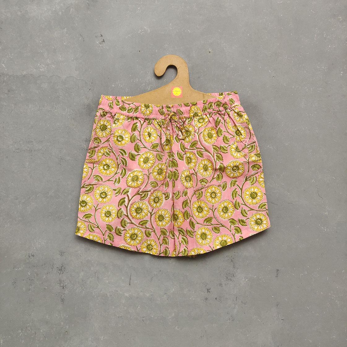 Handblock Printed Shorts/ Half Pants HP159