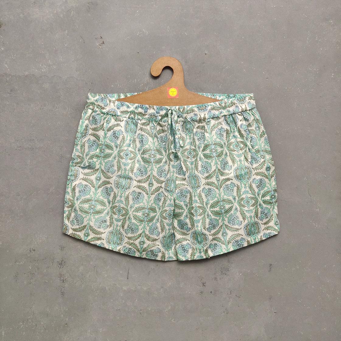 Handblock Printed Shorts/ Half Pants HP209