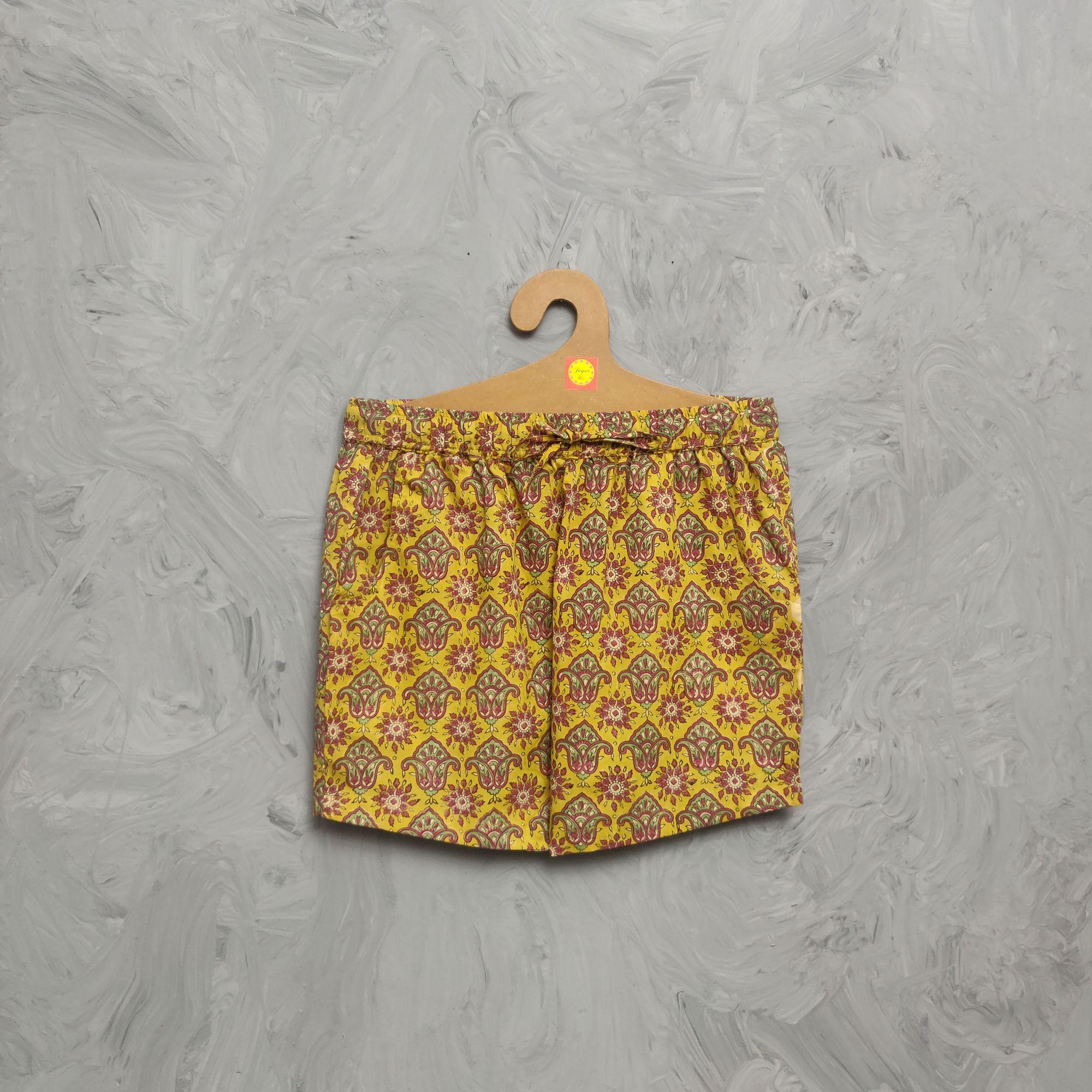 Handblock Printed Shorts/ Half Pants HP283