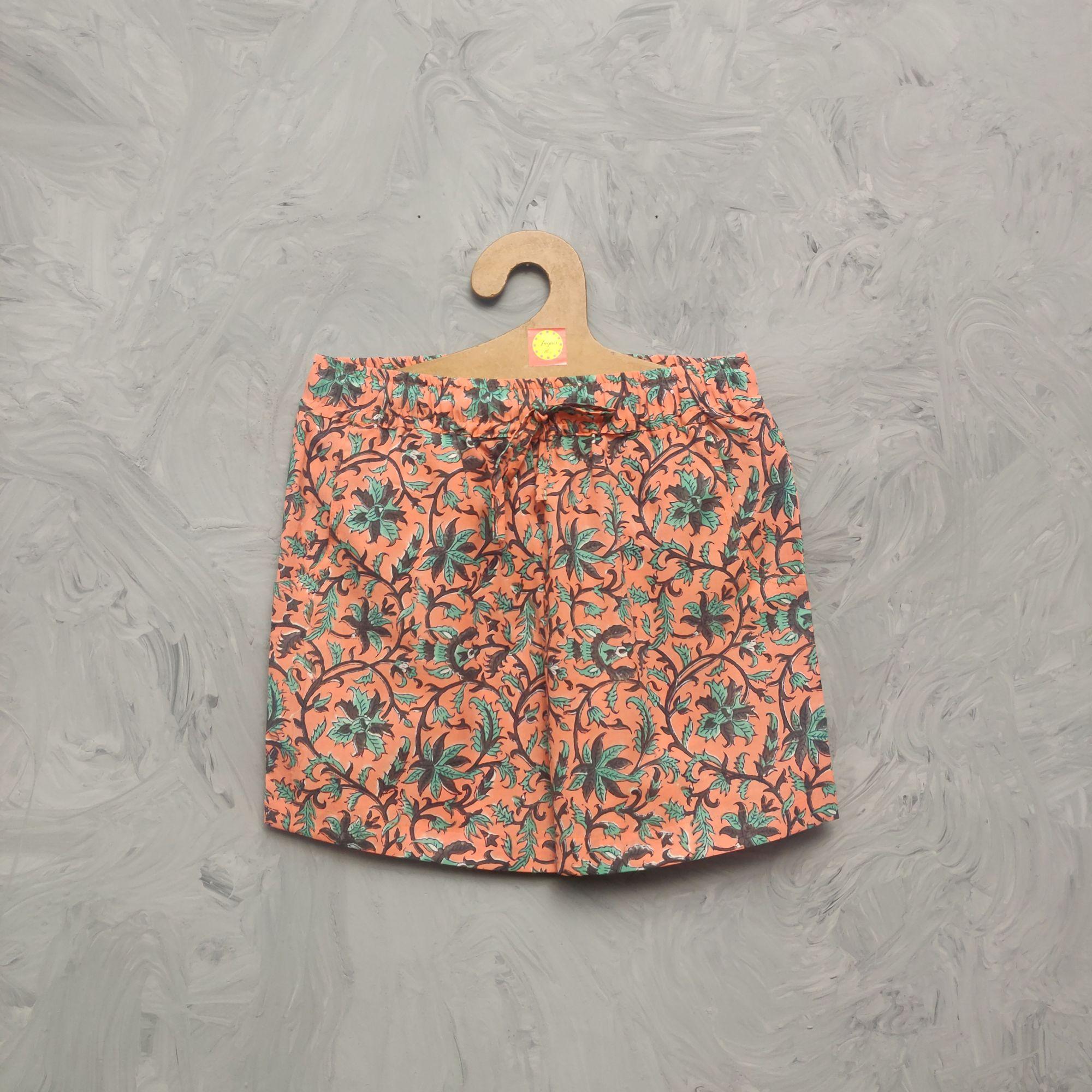 Handblock Printed Shorts/ Half Pants HP298