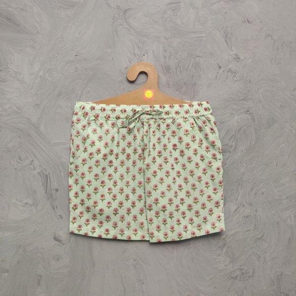 Handblock Printed Shorts/ Half Pants HP306
