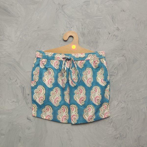Handblock Printed Shorts/ Half Pants HP318