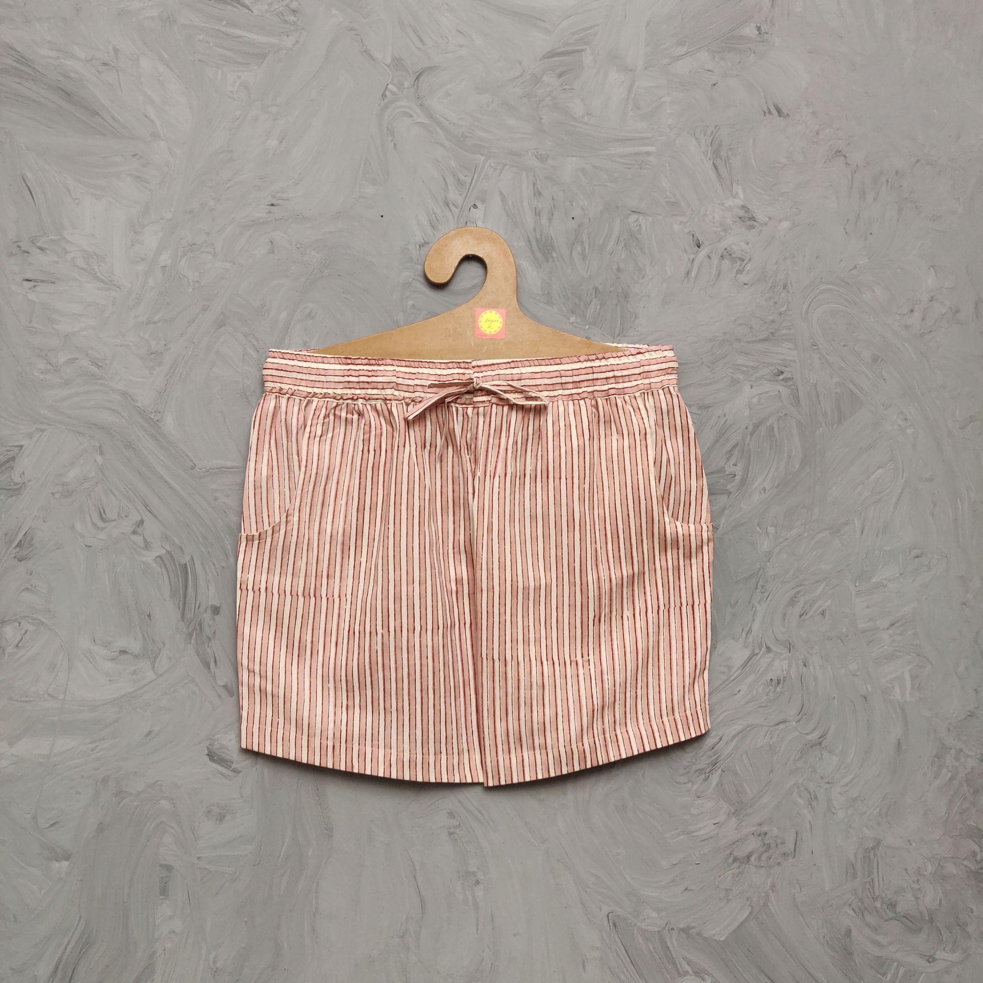 Handblock Printed Shorts/ Half Pants HP332