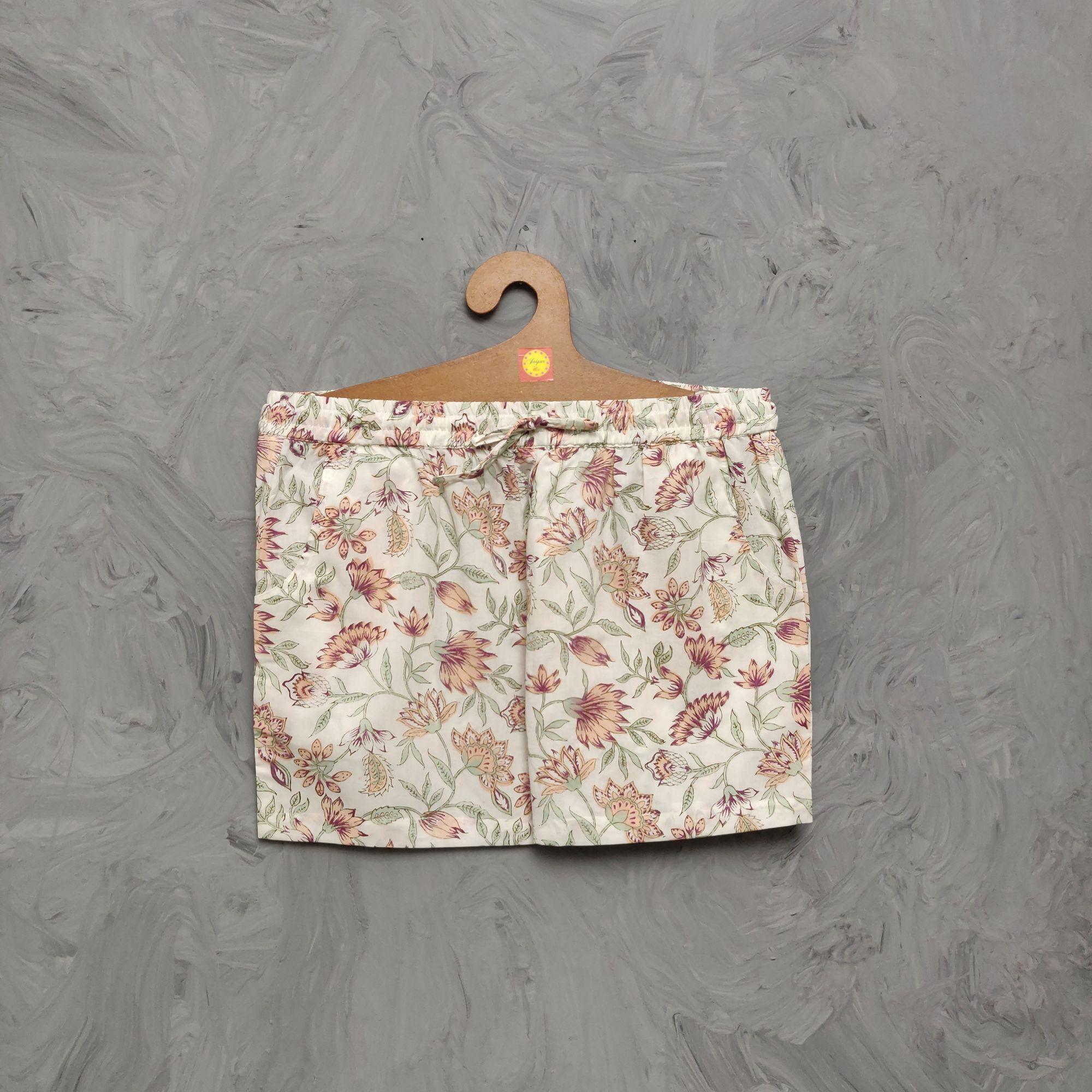 Handblock Printed Shorts/ Half Pants HP338