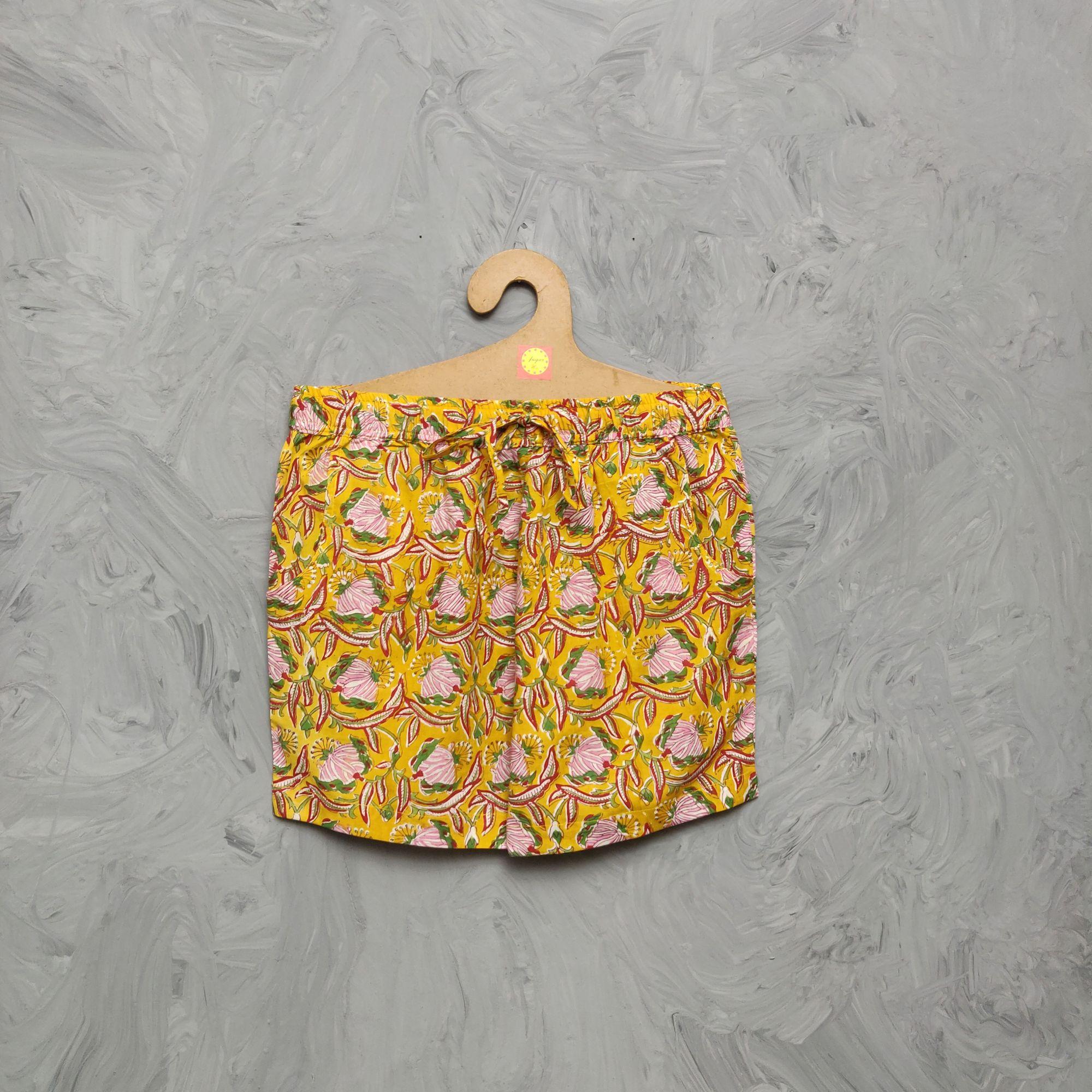 Handblock Printed Shorts/ Half Pants HP345