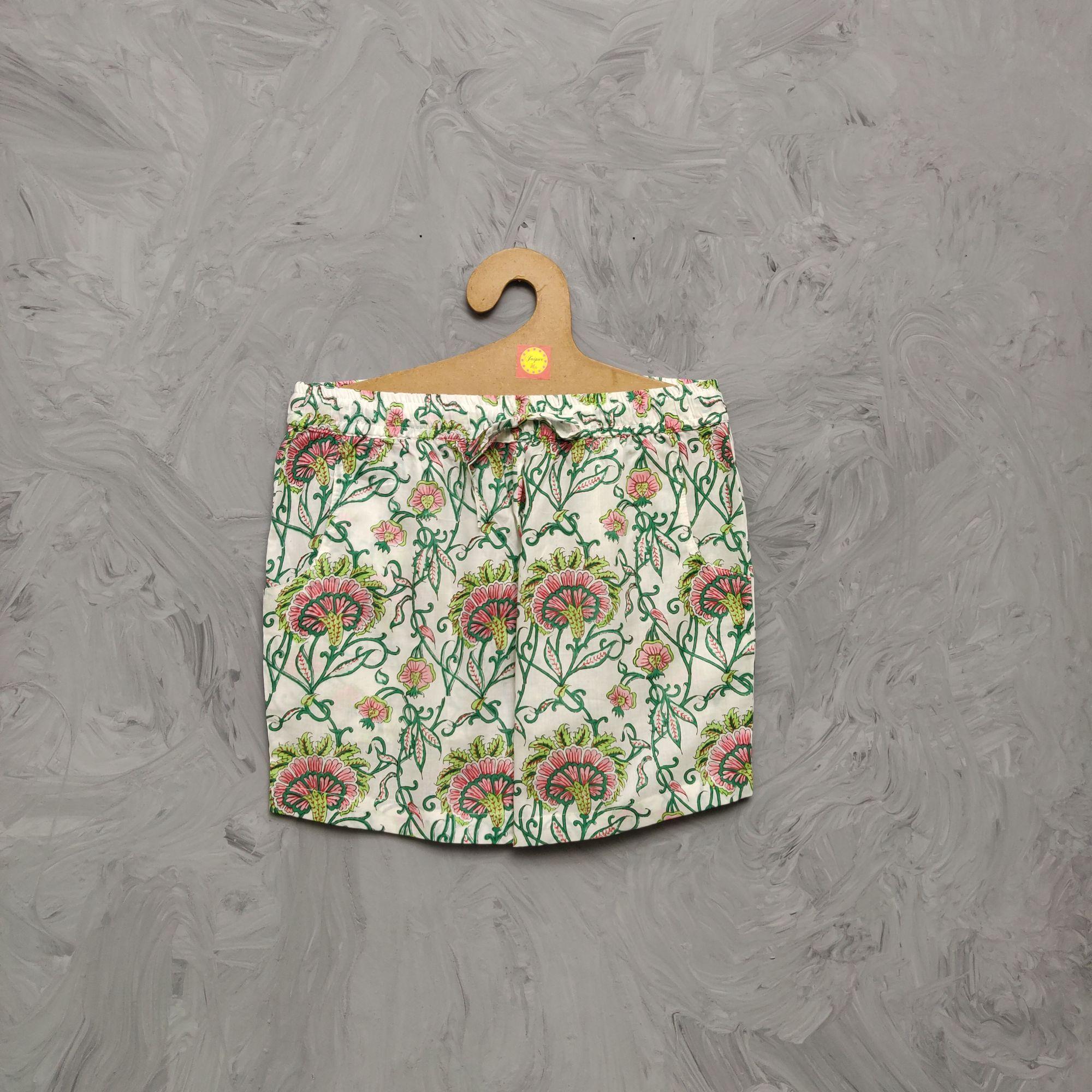 Handblock Printed Shorts/ Half Pants HP347