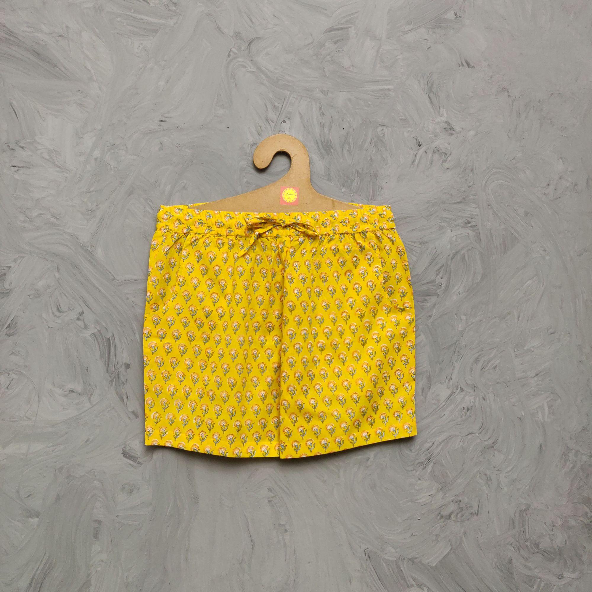 Handblock Printed Shorts/ Half Pants HP359