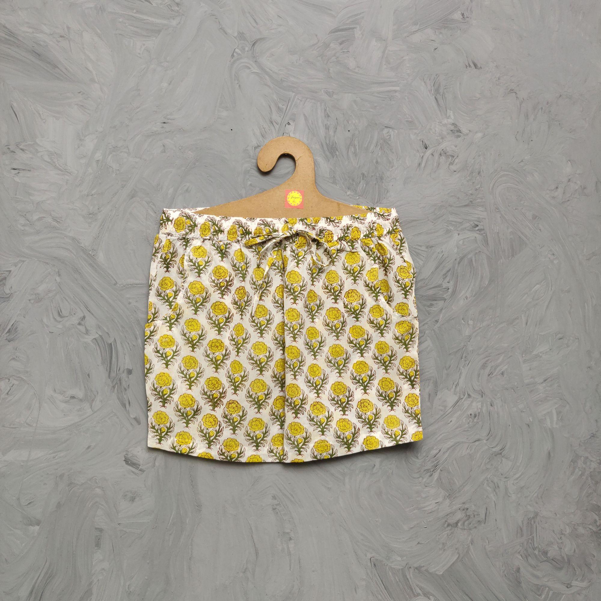 Handblock Printed Shorts/ Half Pants HP361