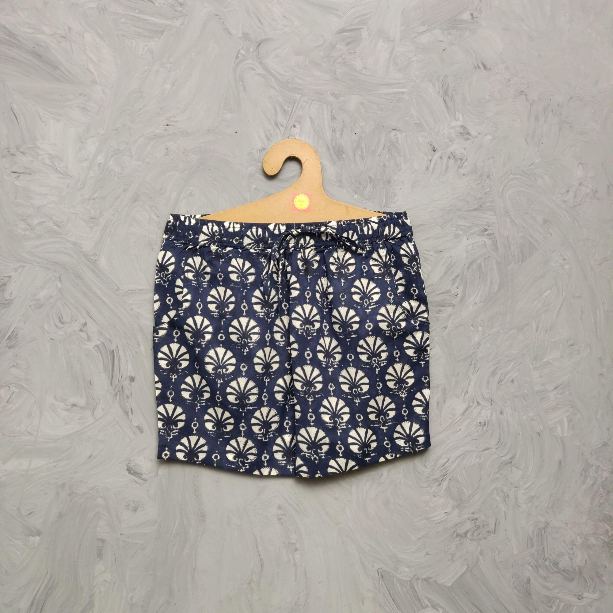 Handblock Printed Shorts/ Half Pants HP365