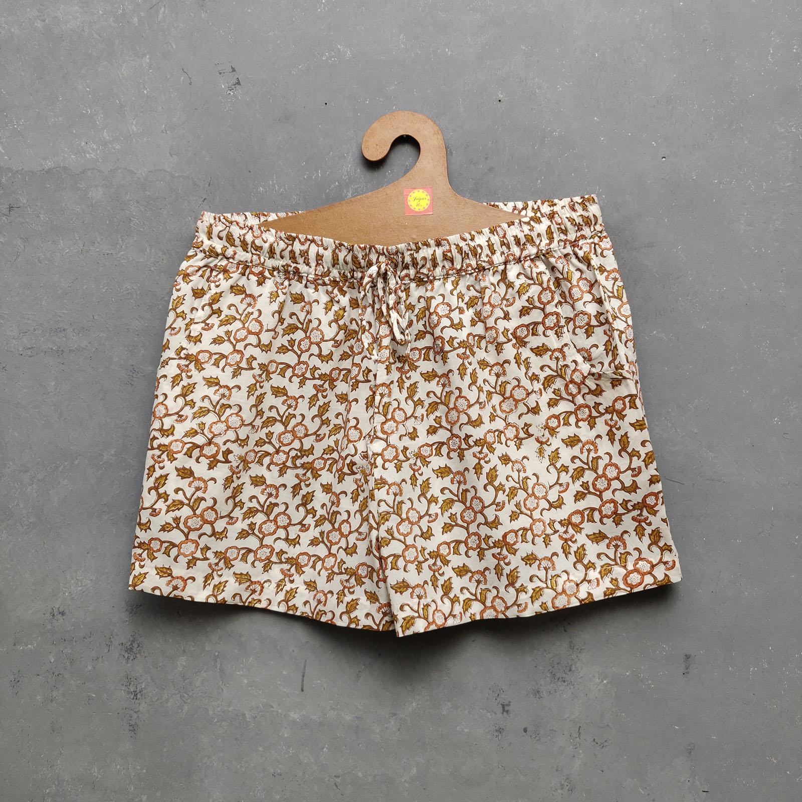 Handblock Printed Shorts/ Half Pants HP68