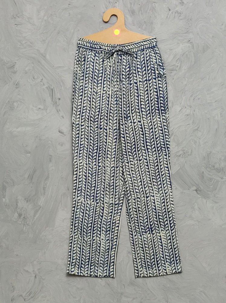 Indigo Handblock Printed Pyjama PYHBP10