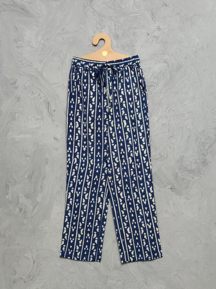 Indigo Handblock Printed Pyjama PYHBP15