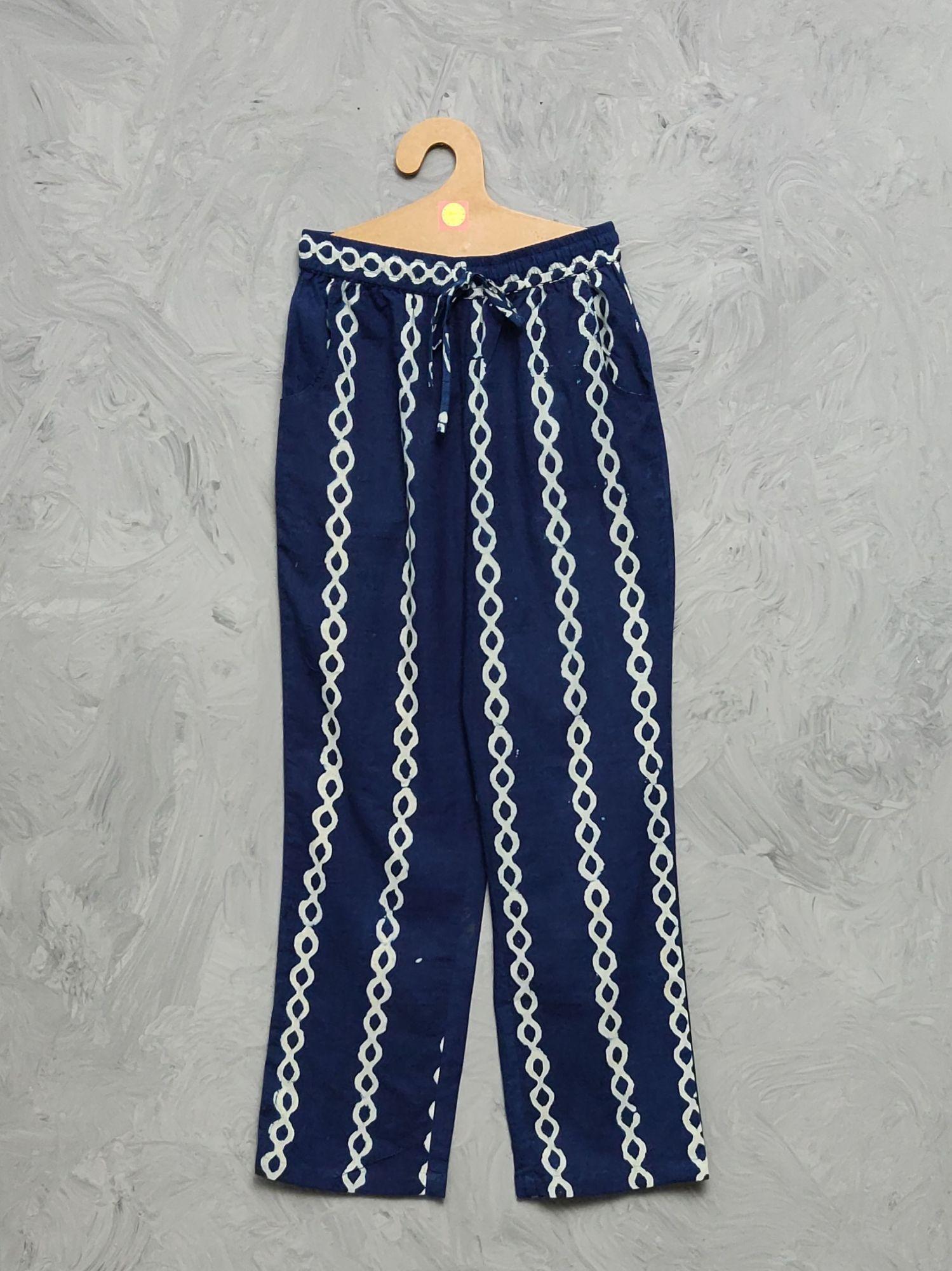 Indigo Handblock Printed Pyjama PYHBP20
