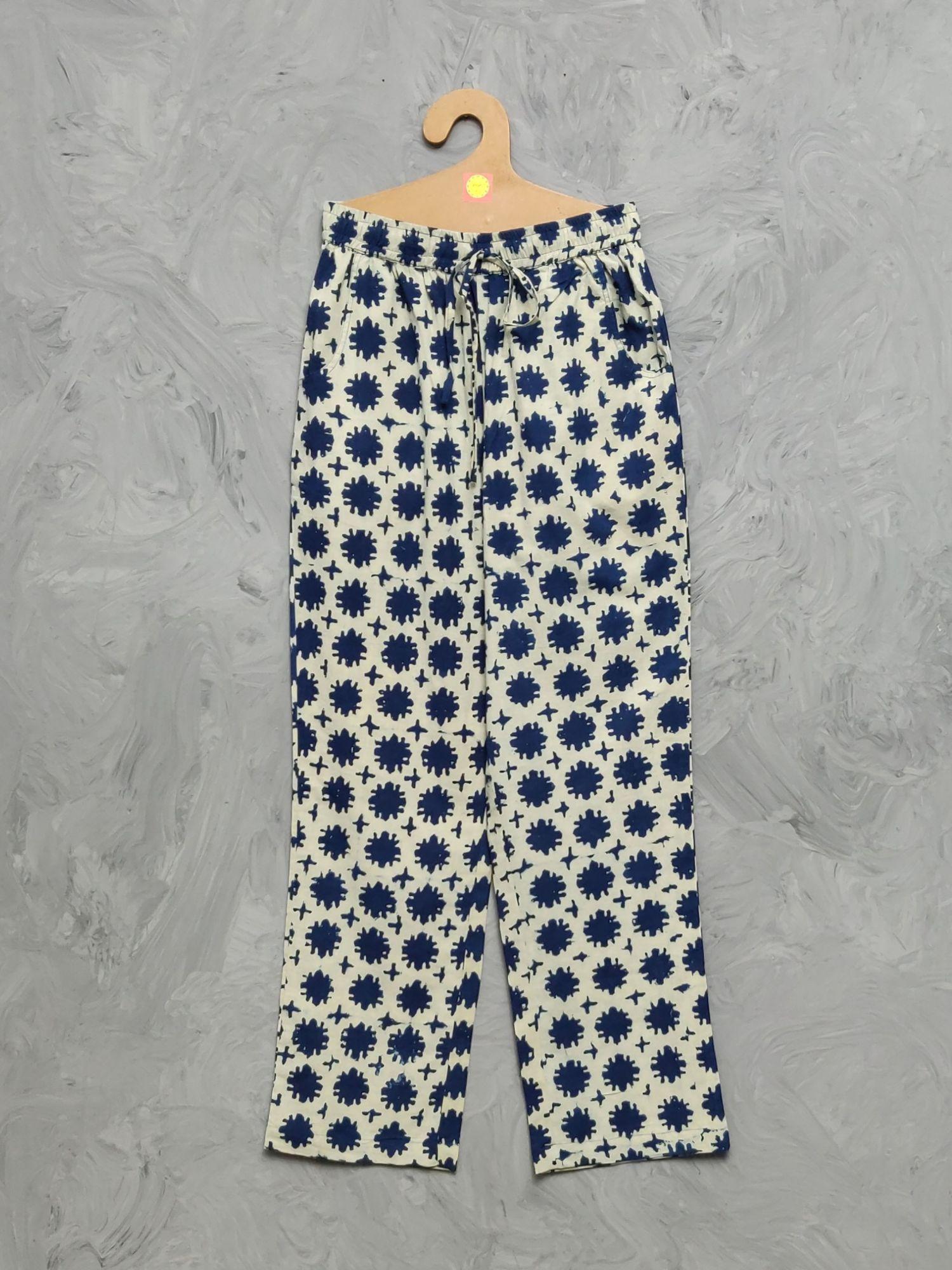 Indigo Handblock Printed Pyjama PYHBP21
