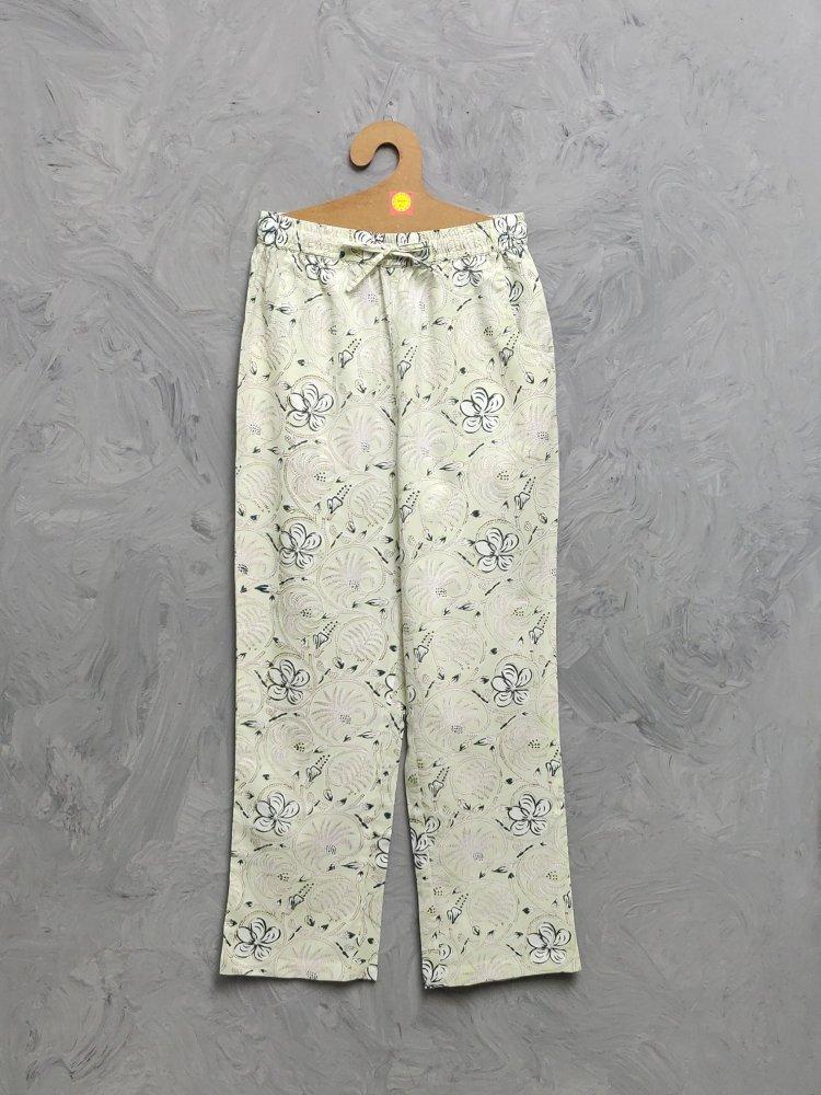 Multi Colour Handblock Printed Pyjama PYHBP31