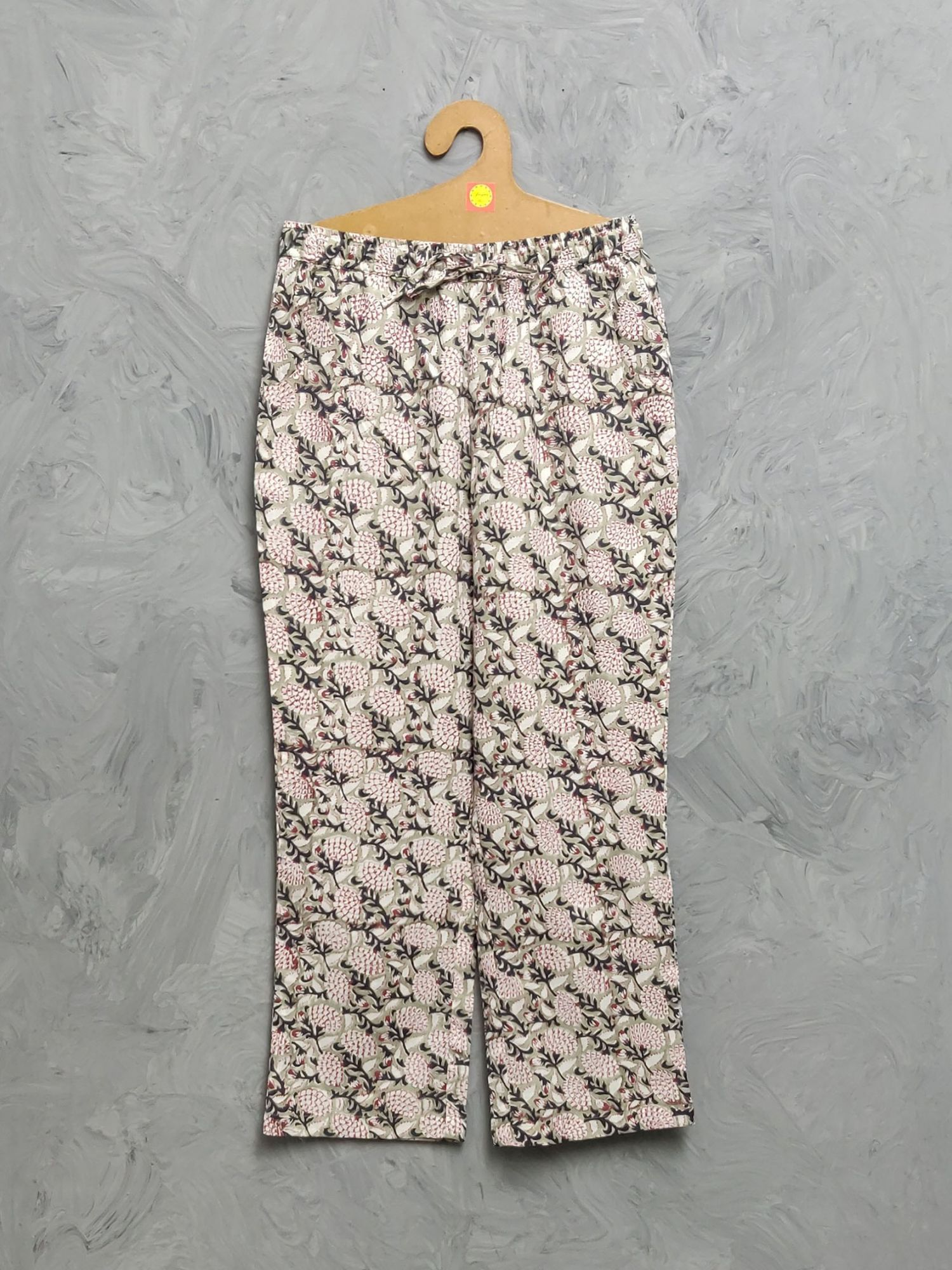 Multi Colour Handblock Printed Pyjama PYHBP33