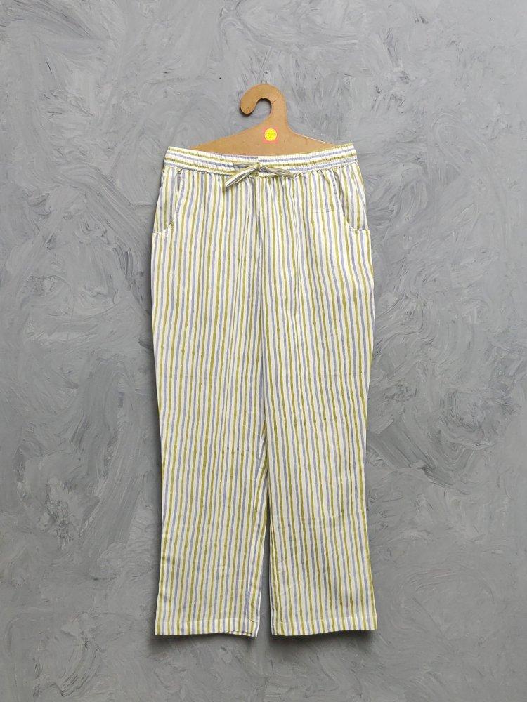 Multi Colour Handblock Printed Pyjama PYHBP35