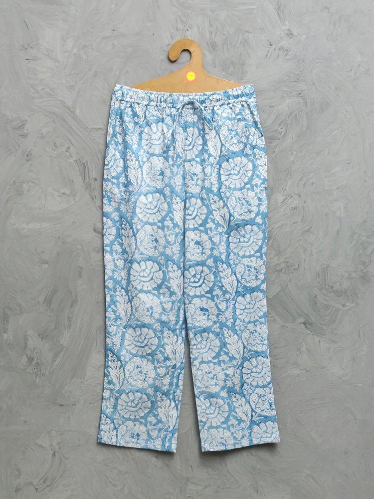 Multi Colour Handblock Printed Pyjama PYHBP36