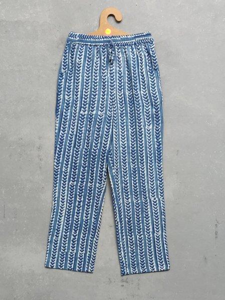Indigo Handblock Printed Pyjama PYHBP6