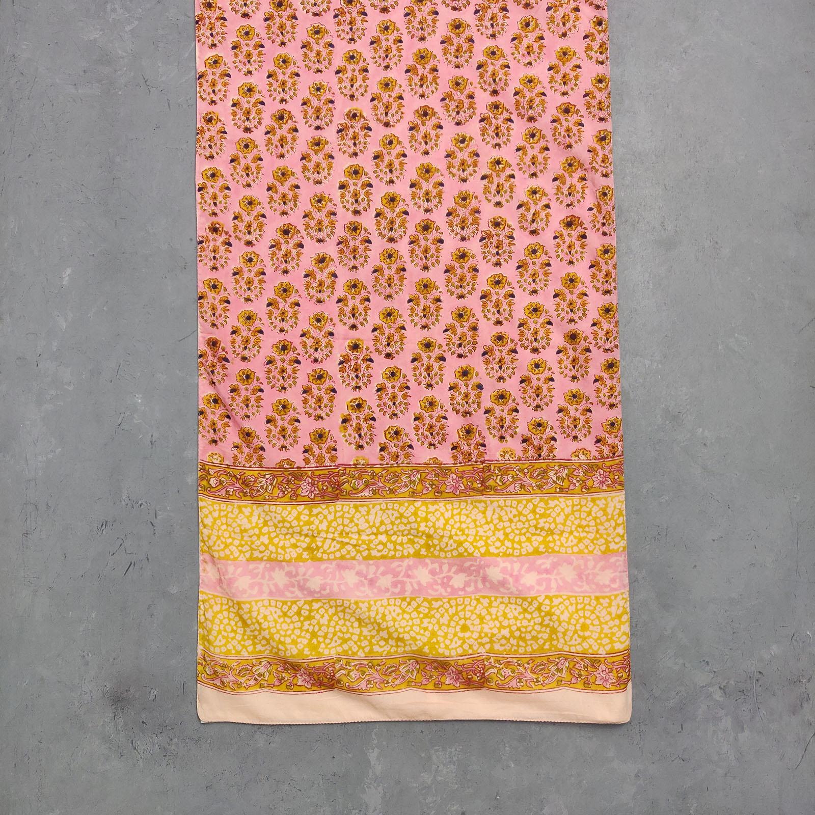 Handblock Printed Multi Colour Stole WST71
