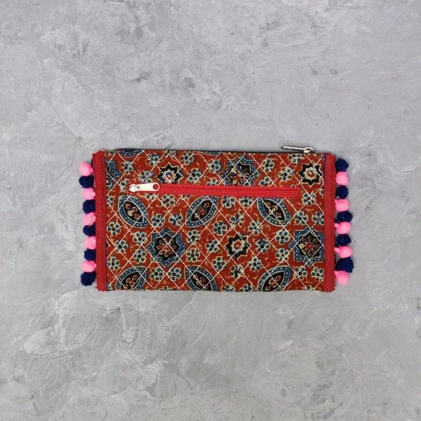 Printed Maroon Based Wallet