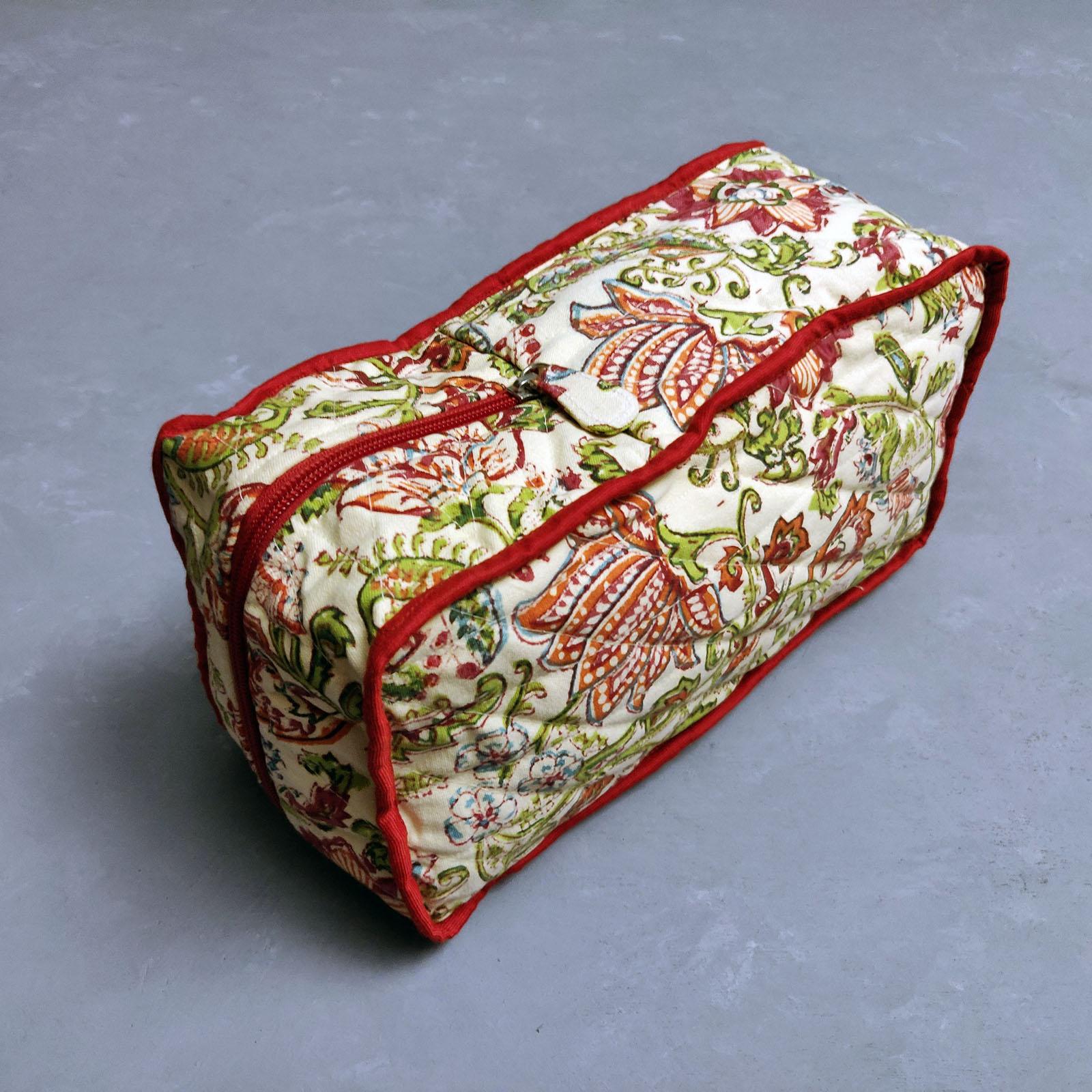 Red Floral Shoe Bag