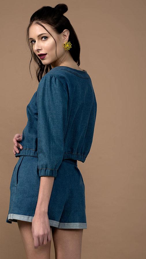 Blue Denim Co-ord (jacket and shorts)
