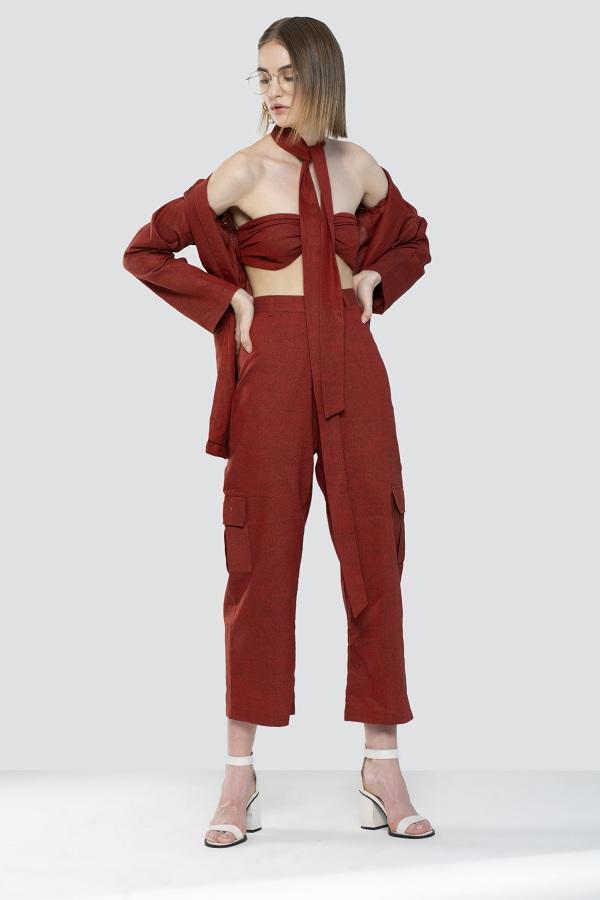 Crimson Pantsuit