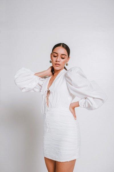 Grace Ruched Short Dress