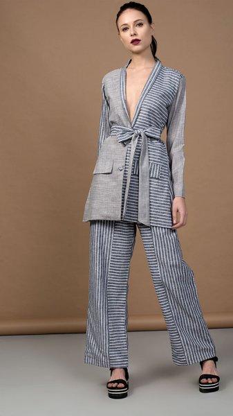 Grey Jumble Pant Suit