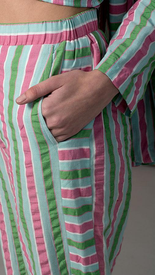 Multi-Color Striped Co-ord